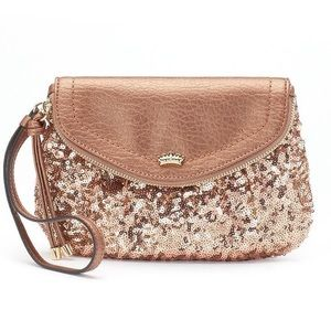 🔅*NEW* JUICY COUTURE ROSE GOLD Sequenced Clutch🔅